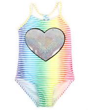 Swimwear - Silver Heart Swimsuit (7-16)-2336163