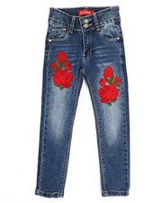 Girls - Stretch Embroidered Jeans (4-6X)-2334363