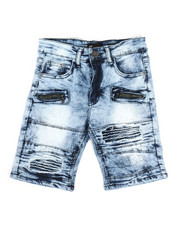 Bottoms - Moto Denim Shorts (8-20)-2337627