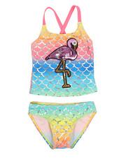 Swimwear - Flamingo Two-Piece Swimsuit (4-6X)-2337391