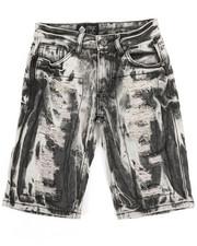 Bottoms - Zip Trim Ripped Denim Shorts (8-20)-2335758