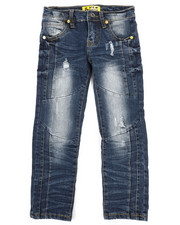 Bottoms - Ribbed Moto Stretch Jeans (4-7)-2337314