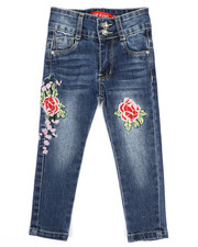 Jeans - Stretch Embroidered Jeans (2T-4T)-2334373