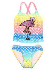 Swimwear - Flamingo Two-Piece Swimsuit (7-16)-2336903