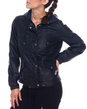 Women - Hooded Windbreaker Full Zip Jacket-2338482