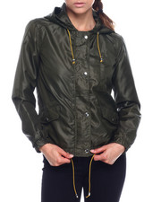 Women - Hooded Windbreaker Full Zip Jacket-2338467