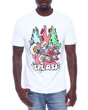 Shirts - SPLASH TEE W/DENIM ACCENTS-2338841