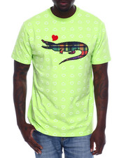 Shirts - CROC HEART TEE W/TWILL ACCENTS-2338677