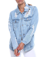 Outerwear - Destructed Denim Jacket-2338522