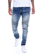 Jeans - Skywalker Blown Out knee Moto Jean-2339721