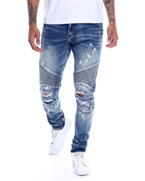 Crysp - Skywalker Blown Out knee Moto Jean