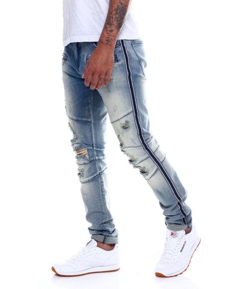 Crysp - Montana Distressed Knee Moto Jean