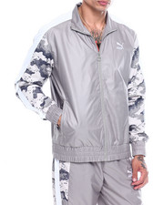 Global Movement Mens - CAMO PANEL TRACK JACKET-2341250