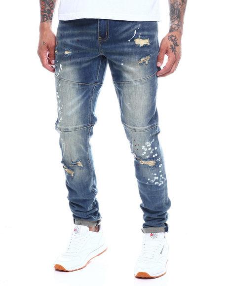 Crysp - Tony Slim Paint Splatter Jean