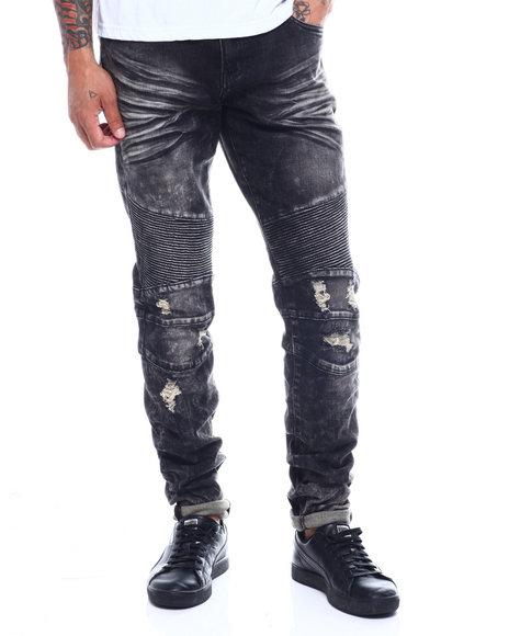 Crysp - Skywalker Acid Wash Moto Jean