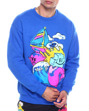 Pink Dolphin - SCRIBBLE 2 CREW NECK-2341473