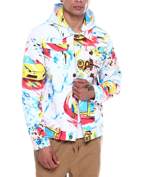 Pink Dolphin - RACE WAVE DENIM JACKET