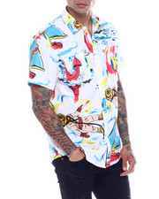 Pink Dolphin - RACE WAVE BUTTON UP-2341378