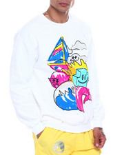 Pink Dolphin - SCRIBBLE 2 CREW NECK-2341495
