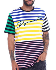 Shirts - SCRIPT STRIPE TEE-2341861