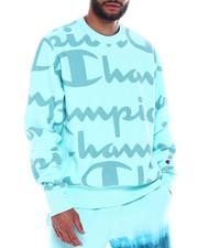 Sweatshirts & Sweaters - REVERSE WEAVE GIANT SCRIPT ALL OVER CREW-2342209