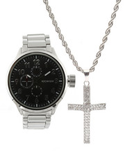 Accessories - Watch & Cross Necklace Set-2336003
