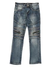 Bottoms - Stretch Jeans W/ Zipper Detail (8-20)-2340194