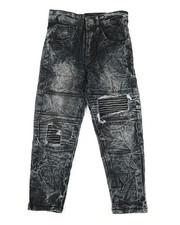 Arcade Styles - Acid Wash Jeans w/ Patch detail (8-20)-2341752