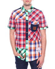 Heritage America - SS COLORBLOCK PLAID WOVEN SHIRT-2342394