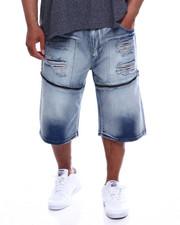Buyers Picks - Zip Trim Ripped Denim Shorts (B&T)-2340314