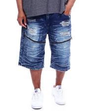Buyers Picks - Zip Trim Ripped Denim Shorts (B&T)-2340325