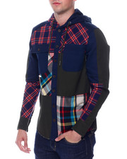 Men - BRIDGE TOWN PLAID SHIRT W HOOD-2342526