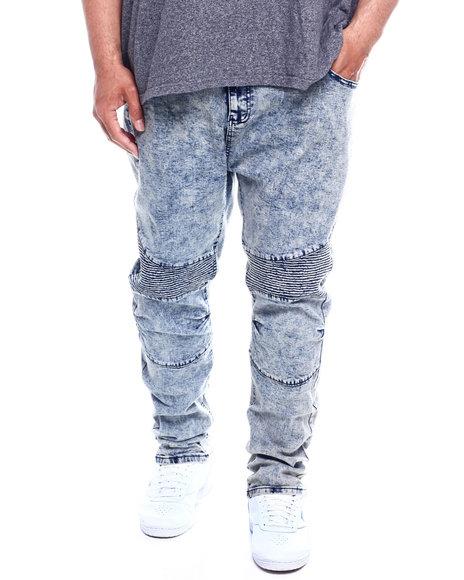 Phat Farm - Skinny Stretch Distressed Washed Moto Denim Pants (B&T)