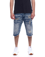 Akademiks - 5 Pocket Denim Short -Vintage Blue-2343588