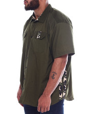 NOTHIN' BUT NET - Big Men's S/S Woven Shirt W/Camo Side (B&T-2343719