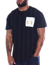 Phat Farm - S/S Printed Foil Stripe Crew Neck Jersey W/ One Pocket (B&T)-2344338