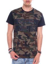 Shirts - S/S Mens Good Vibes Camo Printed T-shirt-2344594