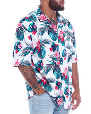 Big & Tall Faves - Hawaiian Poly Print Woven (B&T)-2344118