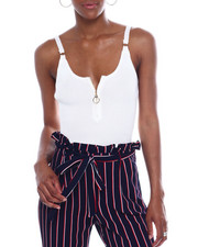 Almost Famous - Rib Cut Out Tie Front Top Tube Top-2344977