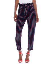 Almost Famous - Liverpool Paper Bag Waist Roll Cuff Straight Leg Pant-2344905