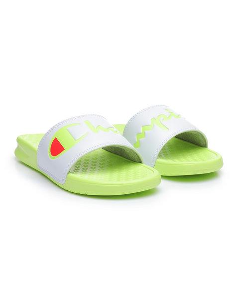 fb583c74a Buy Super Slide Split Script Sandals Women s Footwear from Champion ...