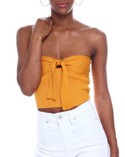 Almost Famous - Tie Front Top Tube Top-2345019