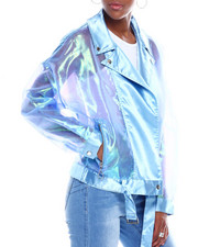 Spring-Summer-W - Sheer Organza Moto Jacket-2345037