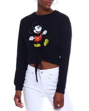 Graphix Gallery - Mickey L/S Tie Front Sweatshirt-2344149