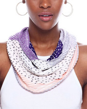 Women - Border Polka Dot Pleated Neckerchief-2345134
