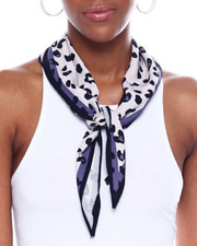 Fashion Lab - Leopard Grey Border Neckerchief-2345102
