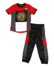 Enyce - Graphic Tee & Jogger Pants Set (2T-4T)-2311464