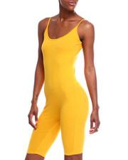 Jumpsuits - Spaghetti Strap Bermuda Catsuit-2344947