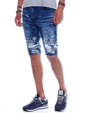 Shorts - BLUE DOT SEAMED MOTO DENIM SHORT-2345445