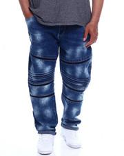 Jeans - Side Seam Seal Zipped Biker Denim (B&T)-2344819